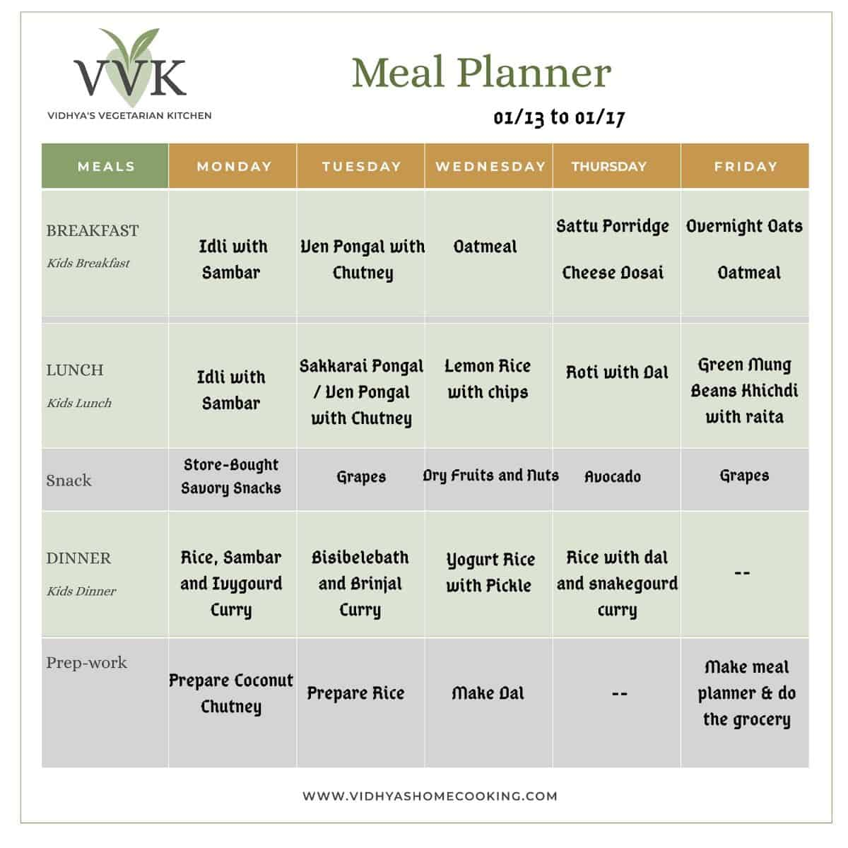meal planner 2020 2