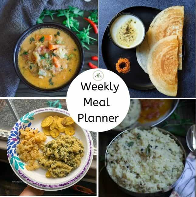 meal planner collage