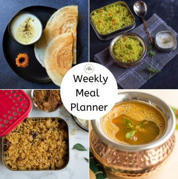 weekly meal planner collage
