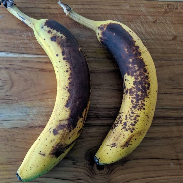 overripe bananas for banana bread