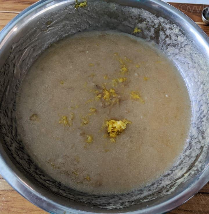 adding lemon zest