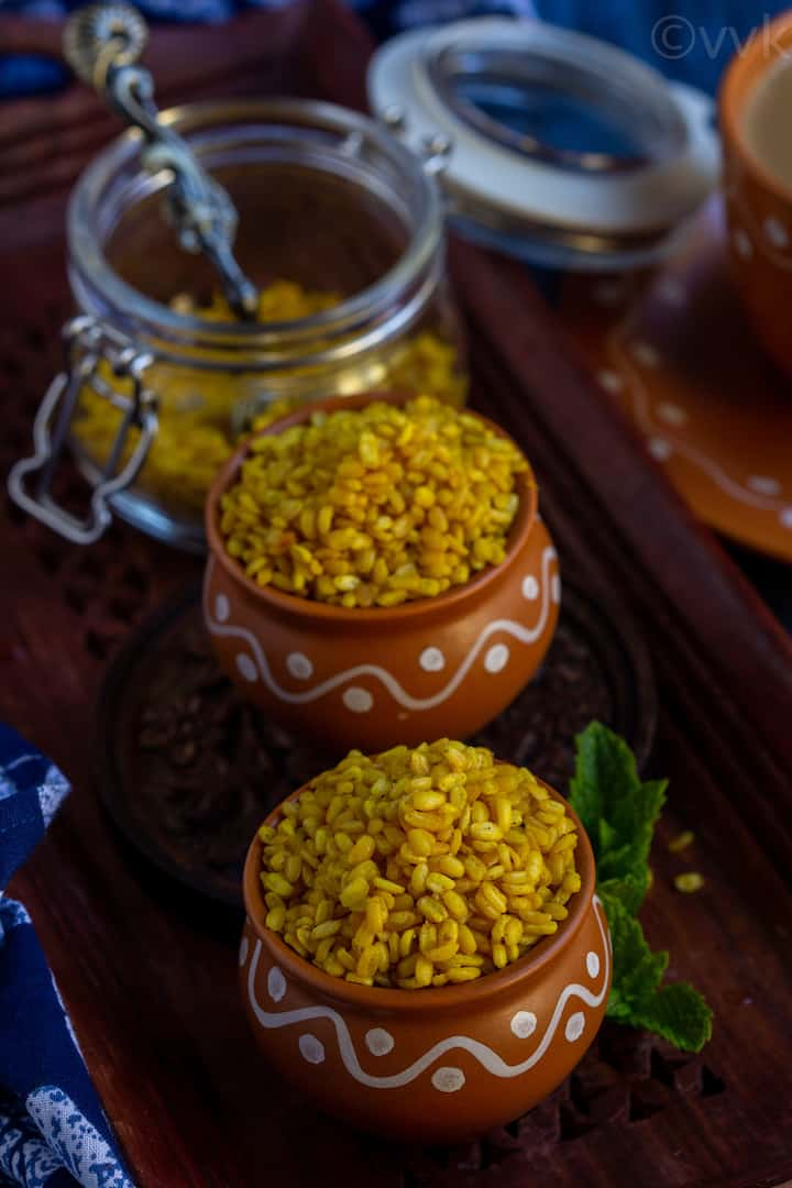 haldiraams style moong dal chaat place in kulhad cups