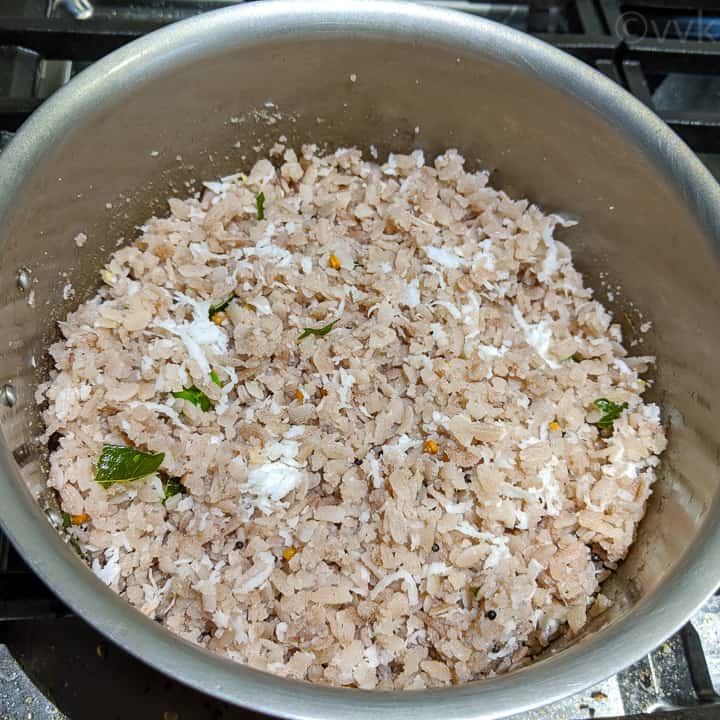 aval upma after cooking