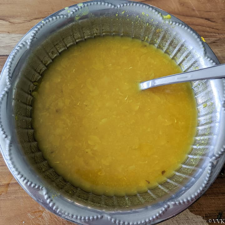 cooked and mashed toor dal