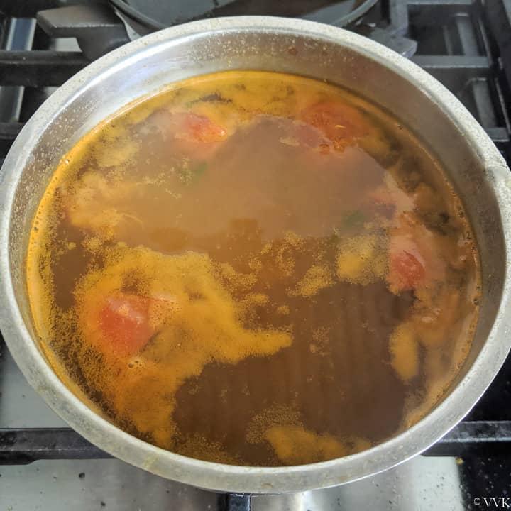 rasam boiling