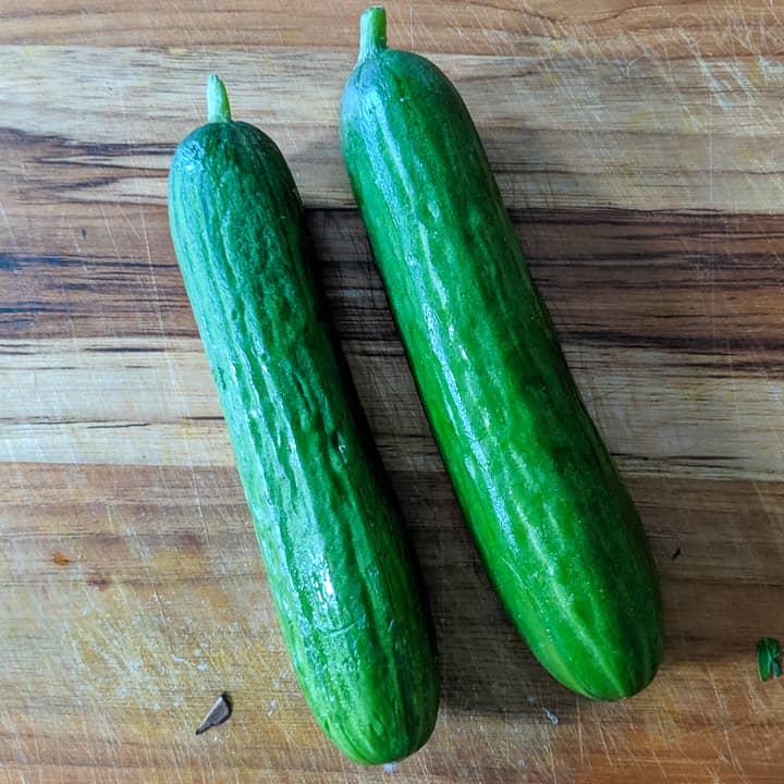 two persian cucumbers
