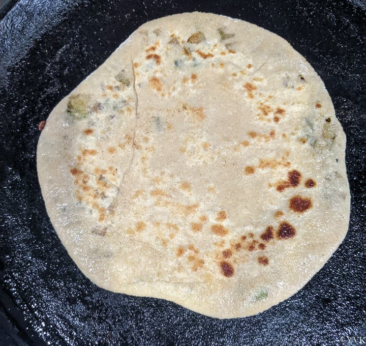 cooked paratha