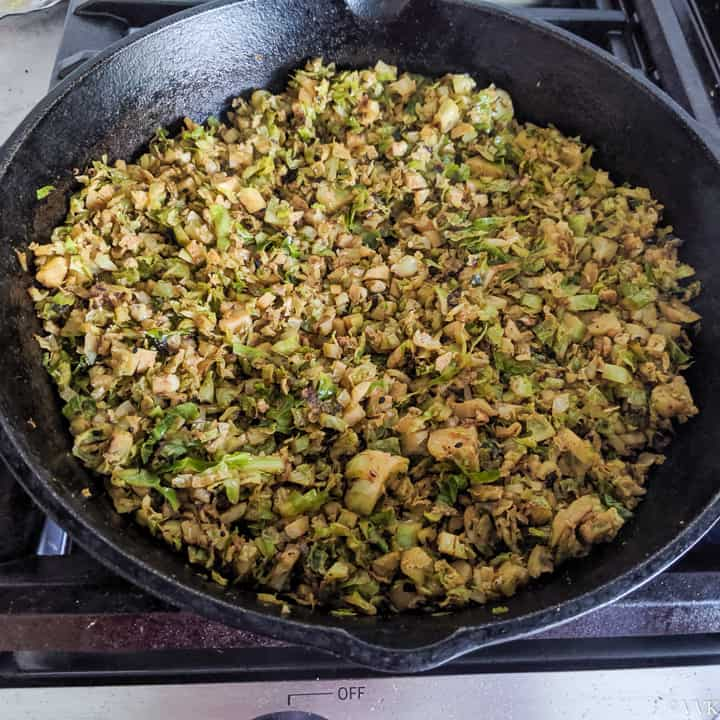cooled down brussels sprouts