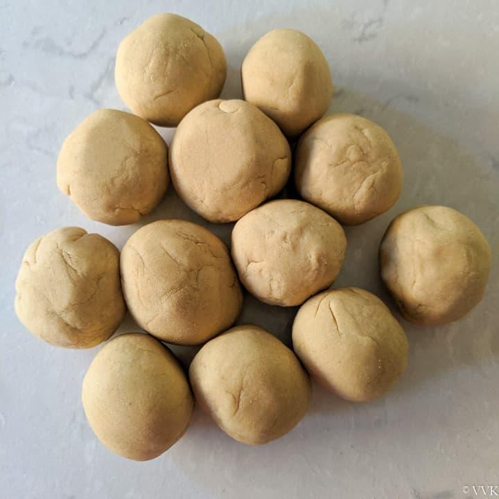 divided dough balls
