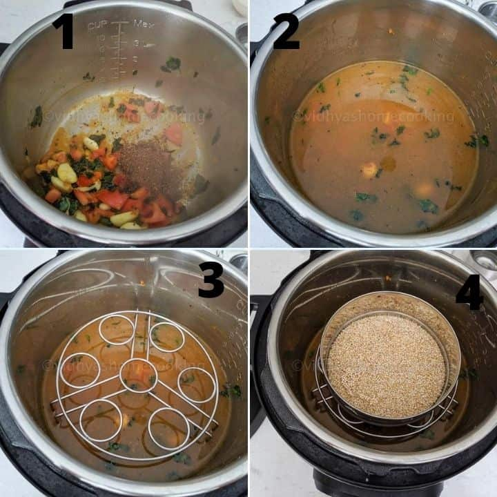 instant pot moringa rasam steps