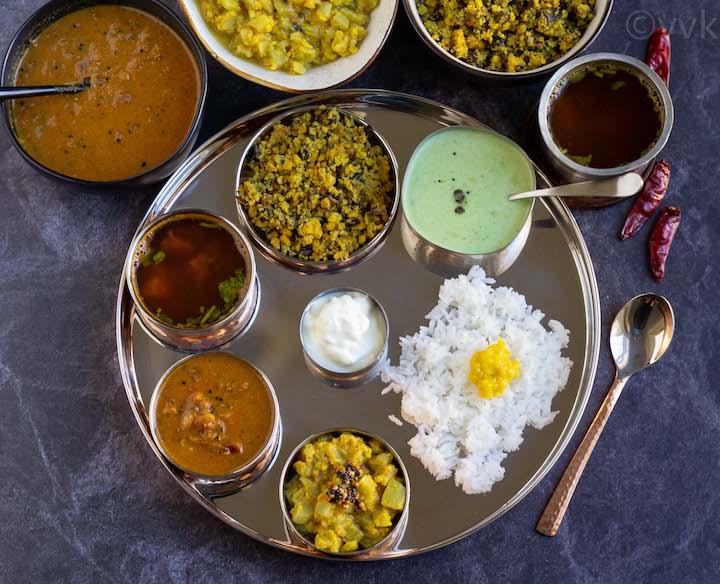 simple tamilnadu tambram style lunch menu