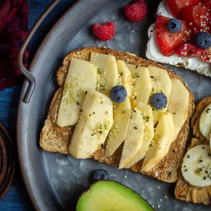 almond butter apple toast