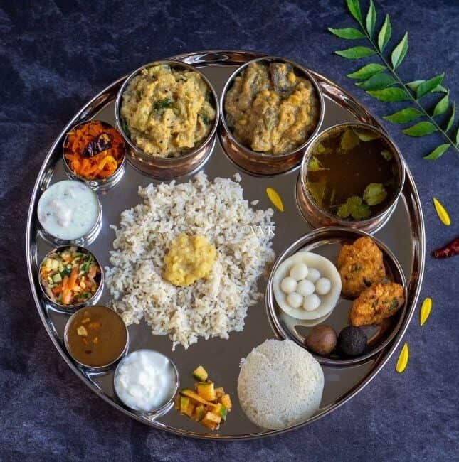 square image of garuda panchami lunch menu