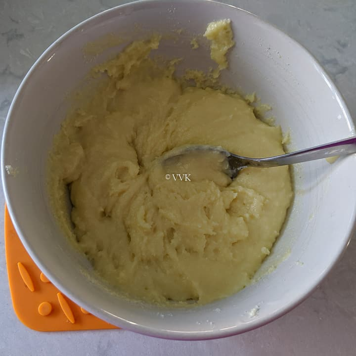milk peda mixture after microwaving for a minute
