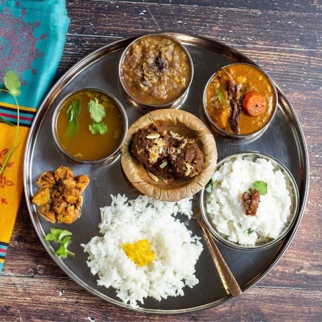 thiruvathirai lunch menu with kali and kootu