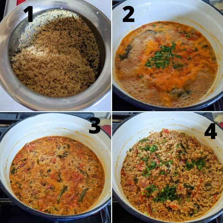 millet biryani step set 2