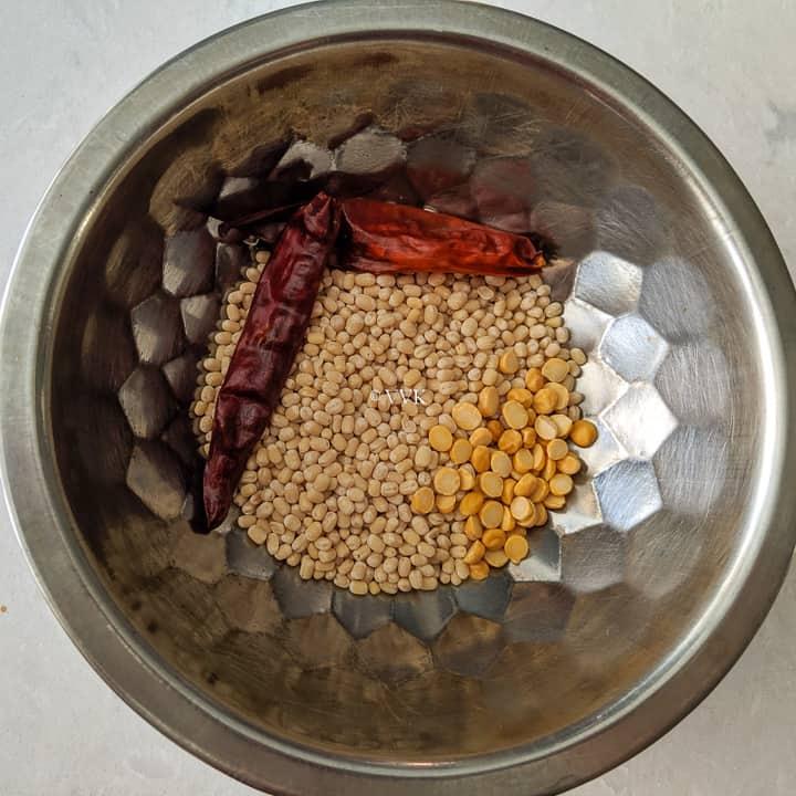 lentils for the uppu kozhukattai