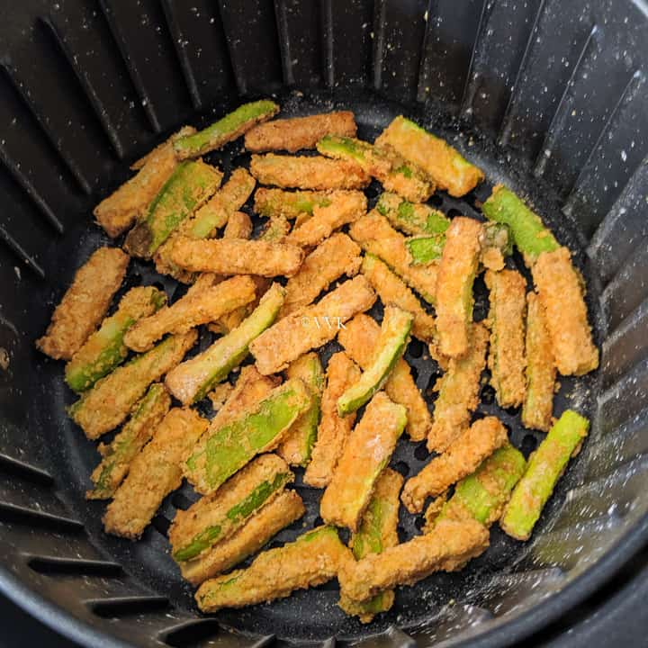 entire zucchini fries after 12 minutes