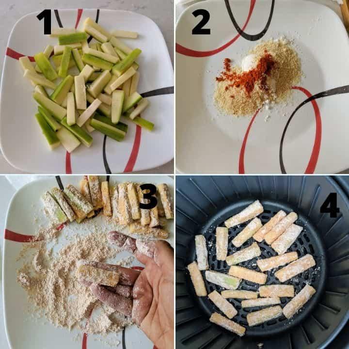 zucchini fries steps