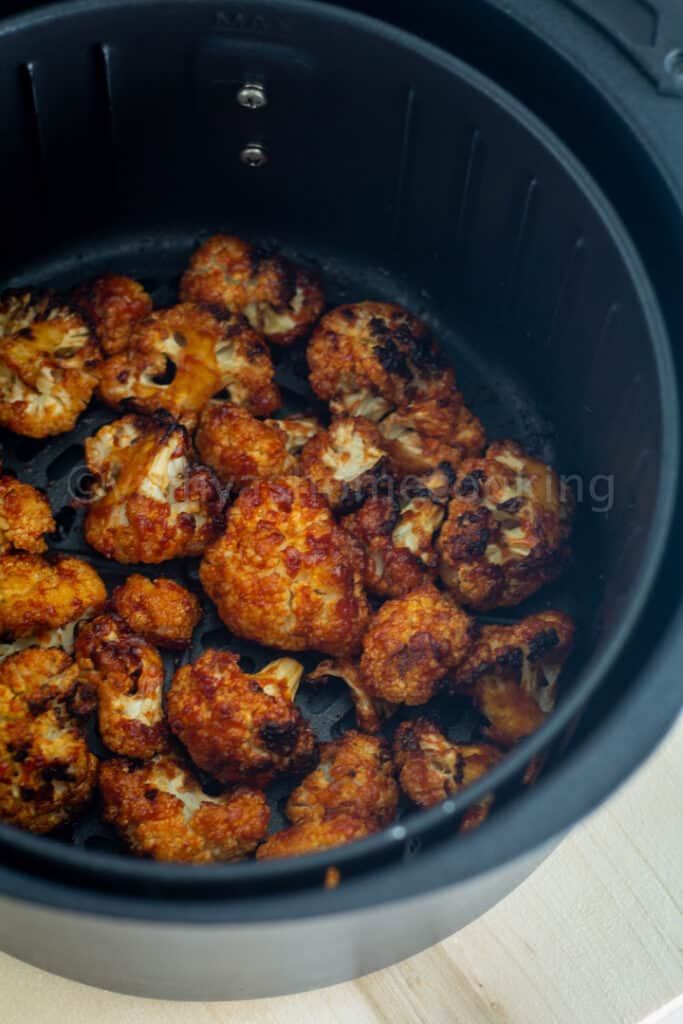 cooked cauliflower bites in the air fryer