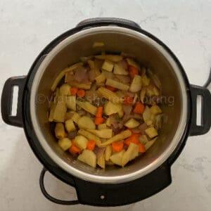 adding the veggies
