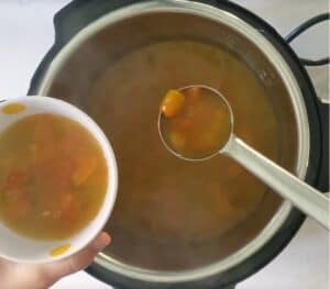 cooked rasam