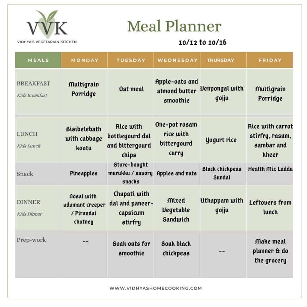 Indian Vegetarian Meal Planners