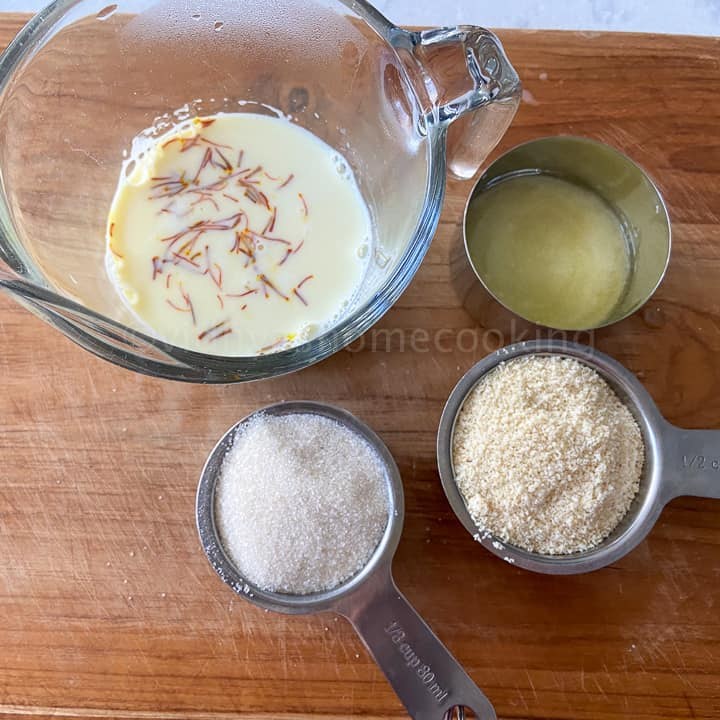 ingredients required for badam halwa