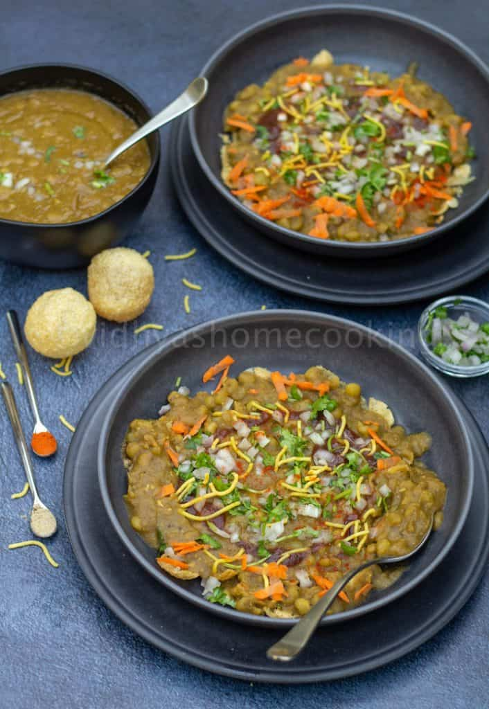 bangalore street style masala puri served for two in wide bowls