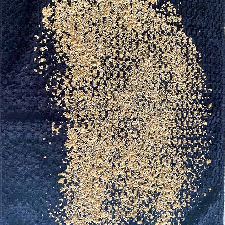 drying foxtail millet on a kitchen towel