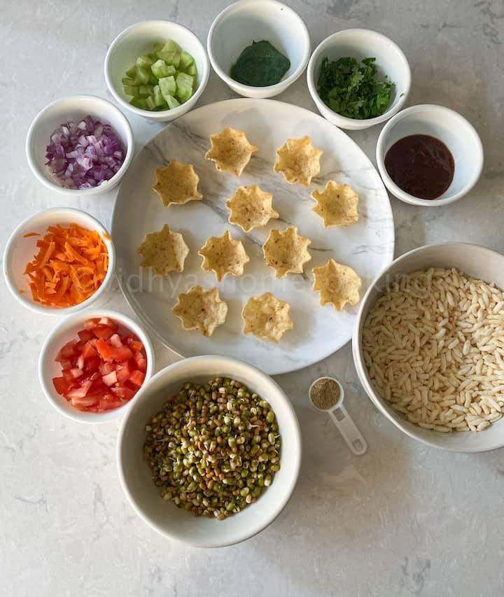 tortilla bhel cup ingredients