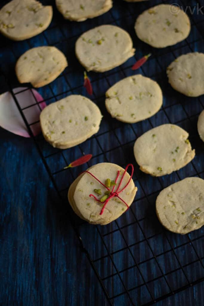 overhead shot of gulab jamun cookies