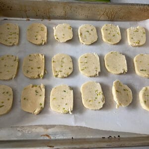 placing the cookies for baking