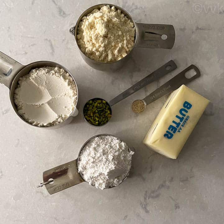 ingredients required for butter cookies