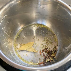 adding spices in the Instant Pot