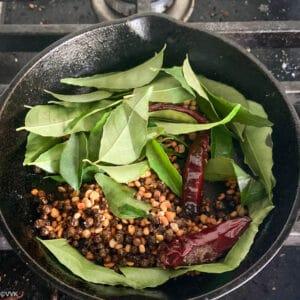roasting the spice powder