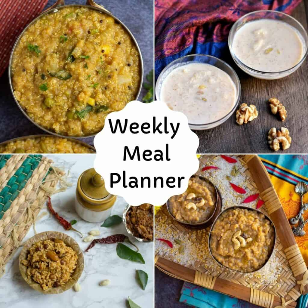 square image of weekly meal planner