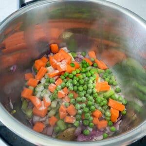 adding veggies and salt