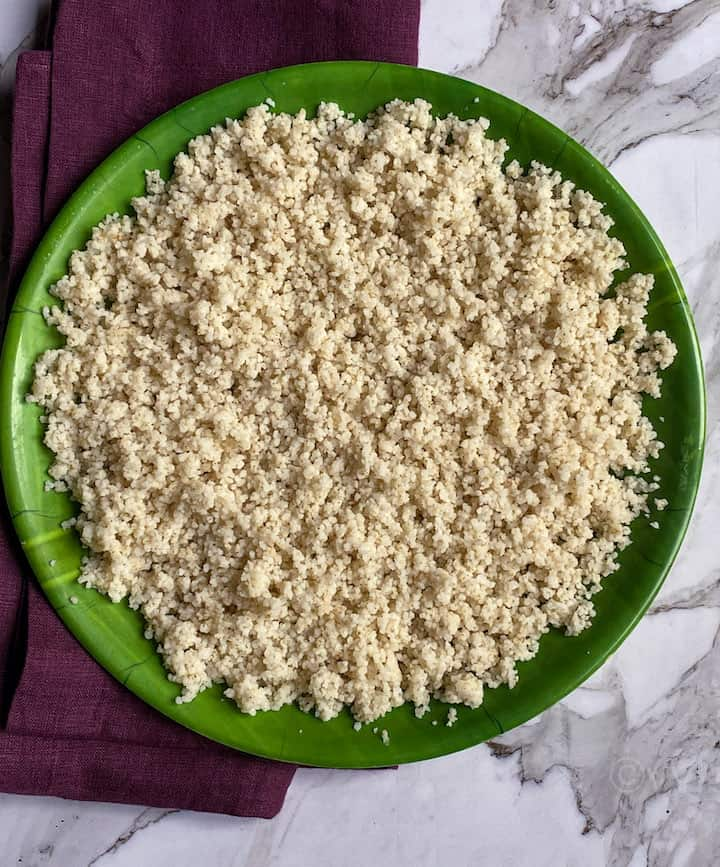 fluffed millet cooked in pot in pot method