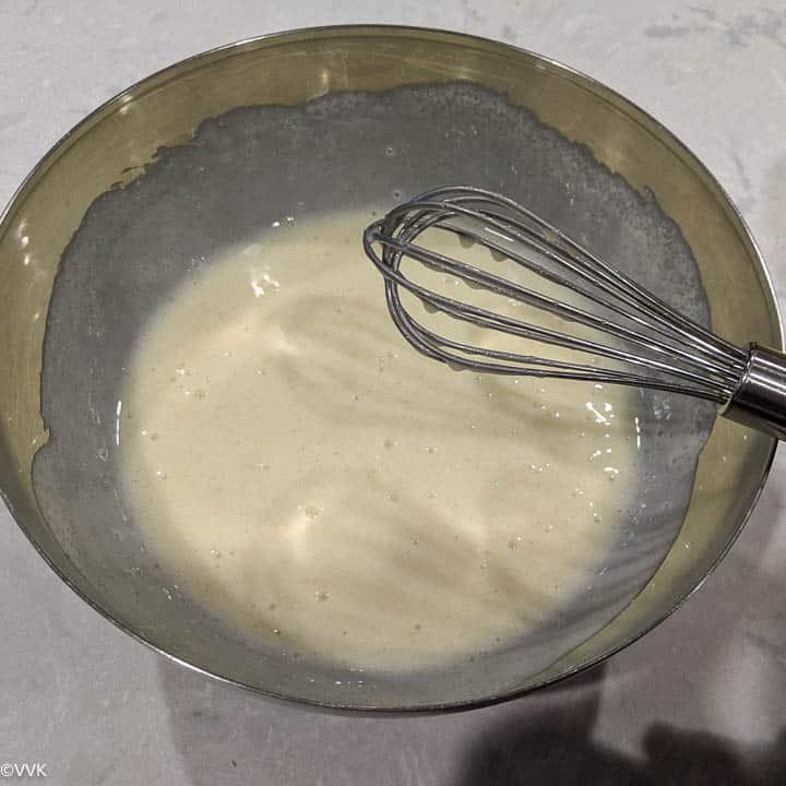 combining sugar and yogurt