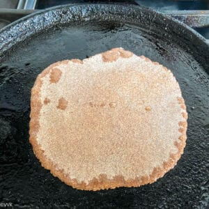 cooking the roti