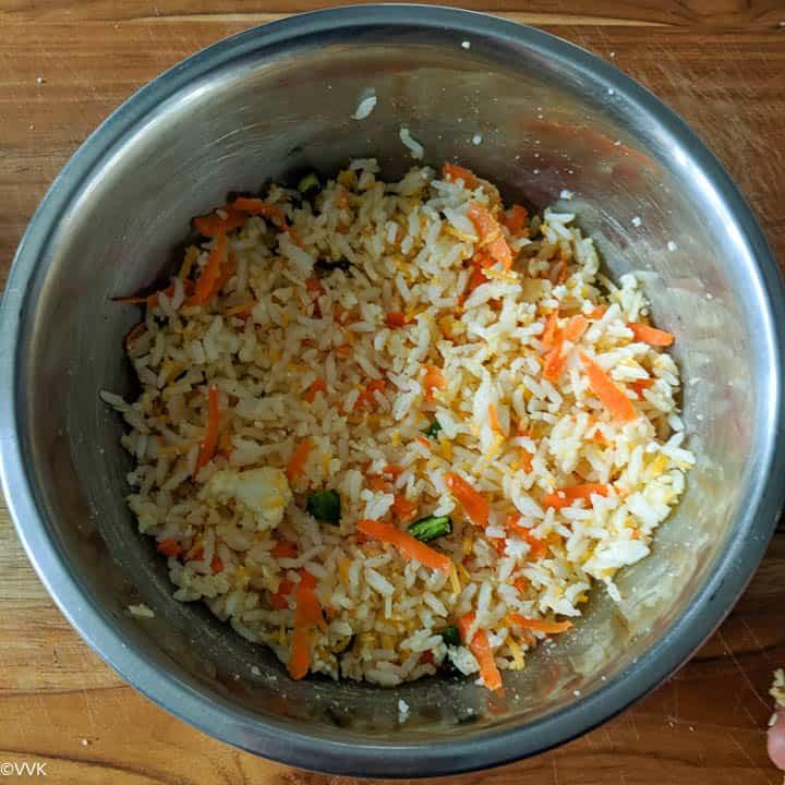 mixed rice mixture