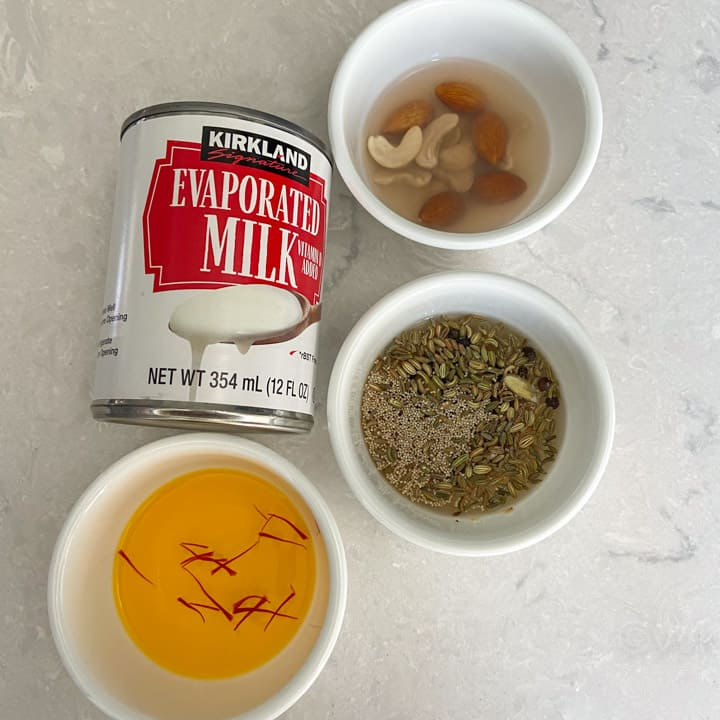 ingredients required for thandai