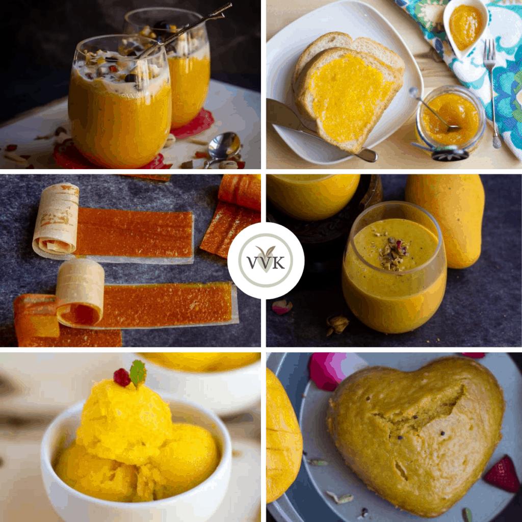 mango recipe collage