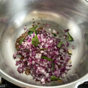 tempering and sauteing onions