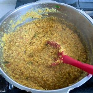 cooked arisi paruppu sadam