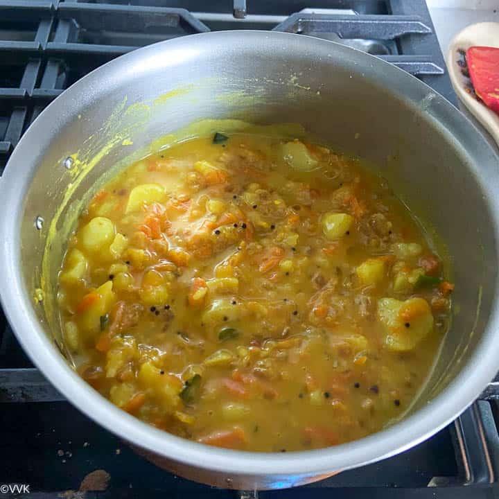 poori kizhangu simmering