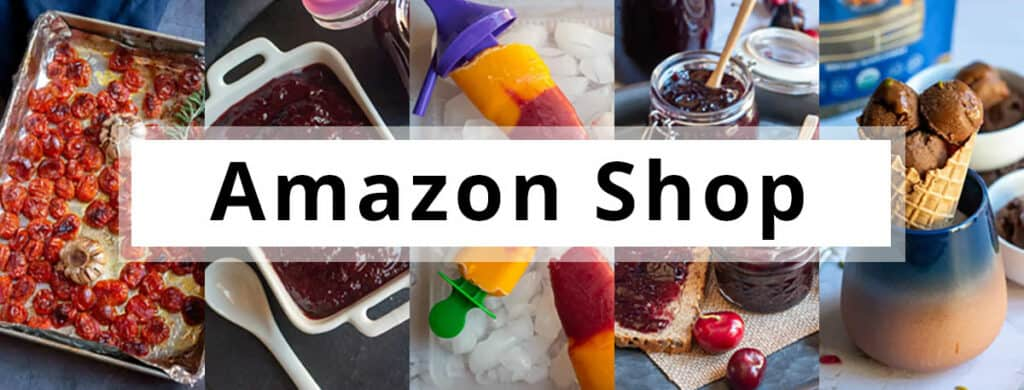 Amazon shop banner with a text overlay