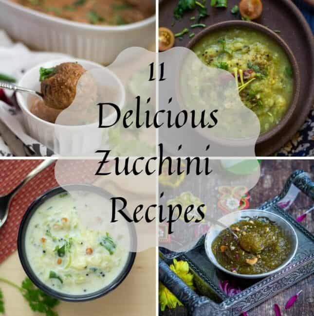 zucchini recipes collage with text overlay