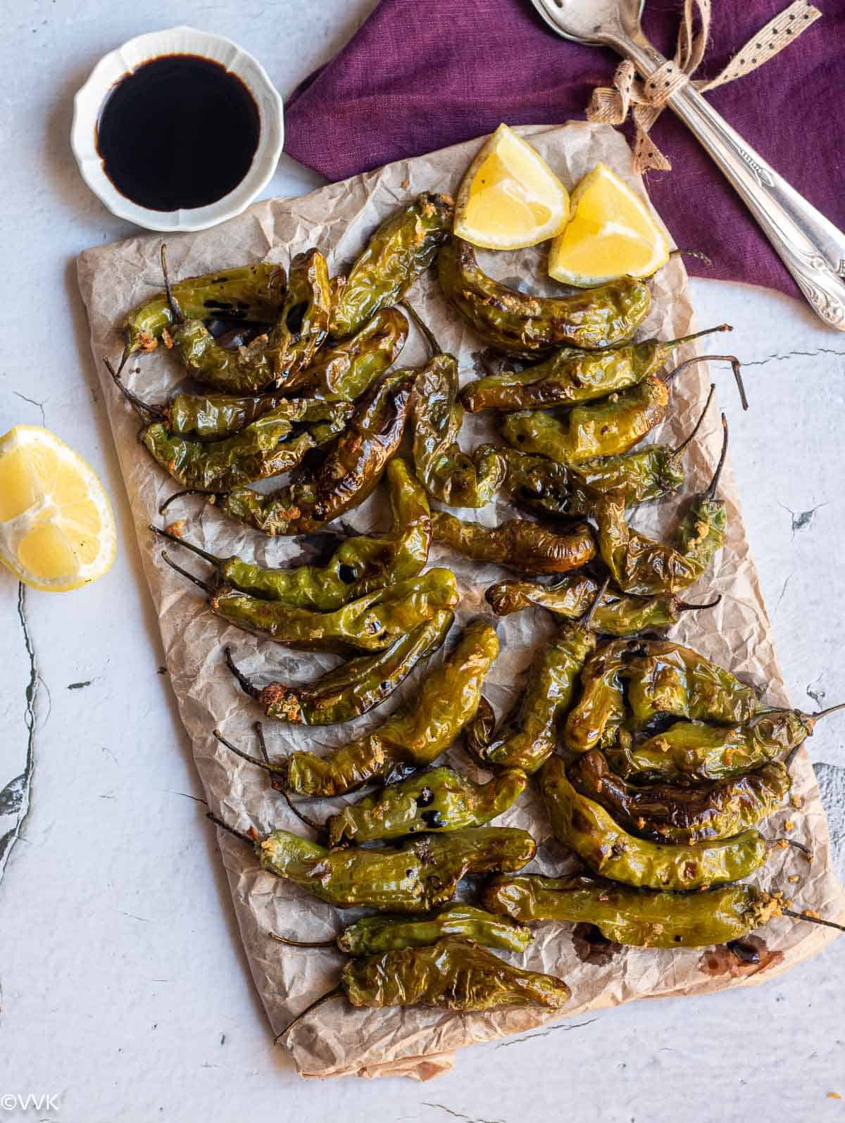 easy air fryer shishito peppers